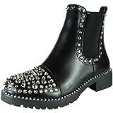 Damen Damen Besetzt Goth Postleitzahl Knöchel Stiefel Zwickel Mode Fashion Schuhgröße 39