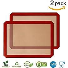 [2 Pièces] Tapis silicone GenKi anti-adhésif Excellente ténacité et résistance à la déchirure (42-30-0.07 cm)