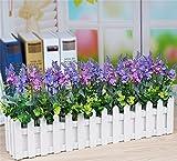 Lavendel Simulation Blume, Zaun-Set, Kunststoff Blume, gefälschte Blume, Wohnzimmer pastoralen Stil dekorative Blumen , 50cm (lavender purple + powder)
