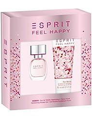 Esprit Coffret cadeau Feel Happy Women Eau de Toilette 15ml + Gel Douche 75ml, 1er Pack (1x 90ml)