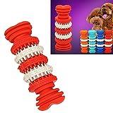 XHD-Prodotti per animali Giocattolo del cane per la pulizia dei denti di animali domestici Masticare i giocattoli di gomma molle non tossica, piccolo formato, Lunghezza: 12cm Gli animali domestici sono più comodi ( SKU : Hc7409r )
