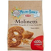 Mulino Bianco Biscotti Integrali Molinetti con Farina Integrale di Grano Saraceno - 800 gr
