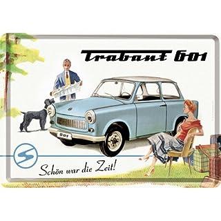 Nostalgic-Art 10175 Trabant - Trabant 601 Schön war die Zeit, Blechpostkarte 10x14 cm