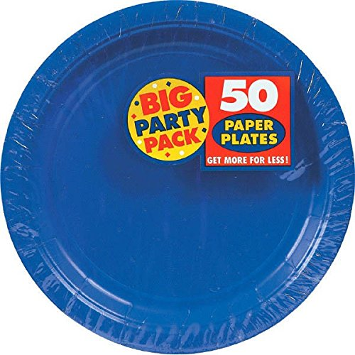 Party-Pappteller, 18 cm, Grün, 50 Stück 7 inches Bright Royal Blue