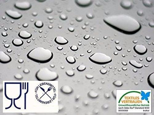 durchsichtige tischdecken Ertex Transparente TISCHDECKE Tischfolie Folie Wachstuch, LFGB geprüft, Lebensmittelecht, 0,3 mm Stärke, Meterware, 140 cm Breit, Länge wählbar, (200 x 140 cm)