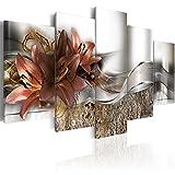 murando - Bilder 200x100 cm - Vlies Leinwandbild - 5 Teilig - Kunstdruck - modern - Wandbilder XXL - Wanddekoration - Design - Wand Bild - Blumen Lilien Abstrakt b-A-0273-b-n