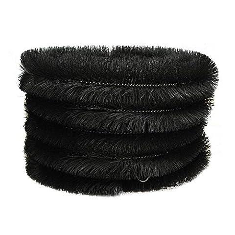 Set of 5 x Black Gutter Brush Leaf Guard (4m)