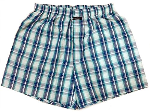 Blacksmith Men's Cotton Boxer Shorts - Blue_XL  available at amazon for Rs.199