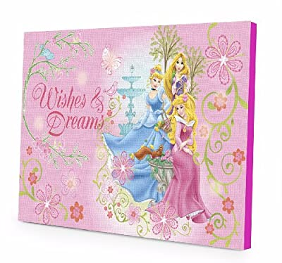 Disney Princess LED Light Up Canvas Wall Art produced by Disney - quick delivery from UK.