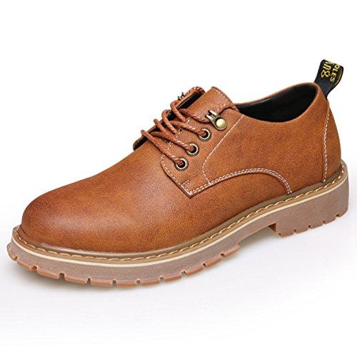 XIGUAFR Homme Chaussure au Loisir Printemps Légère Chaussure en Cuir à Lacets Absorption des Chocs
