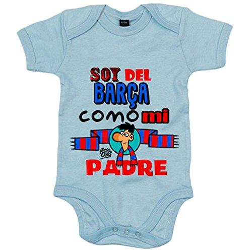 Body bebé soy del Barça como mi padre Jorge Crespo Cano - Celeste, 6