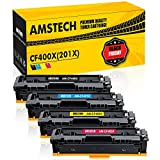 Amstech 4Pack 201X 201A CF400X CF400A M277dw Toner Kompatibel für HP 201X 201A CF400X-CF403X für HP Laserjet Pro MFP M277dw HP Laserjet M252dw M277n M277 M252n M252 M274n M277c6 M274 Druckerpatrone