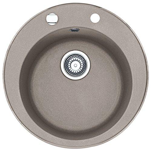 Preisvergleich Produktbild Franke Pamira ROG 610-41 Cashmere Granit-Spüle Grau rund Spülbecken Einbauspüle