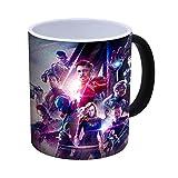 Générique Avengers Endgame - Iron Man, Thor, Captain America, Hulk à Changement de Couleur Mug à café de Chaleur réactive - 300ml