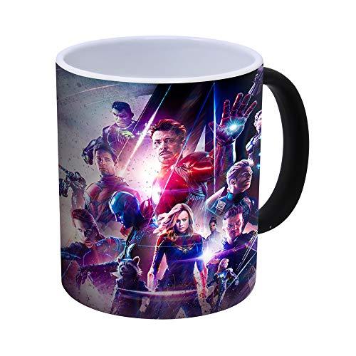 Generic Avengers Endgame - Iron Man, Thor, Captain America, Hulk Kaffeetasse mit Farbwechsel, wärmeempfindlich - 300ml