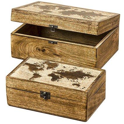 Home Collection Juego 2 Cajas Cofre Organizadoras