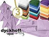Frottiertücher der Serie Opal - erhältlich in 33 modernen Farben und 7 verschiedenen Größen -Markenqualität von Dyckhoff, 1 Pack (3 Stück) - Seiftücher [30 x 30 cm], flieder
