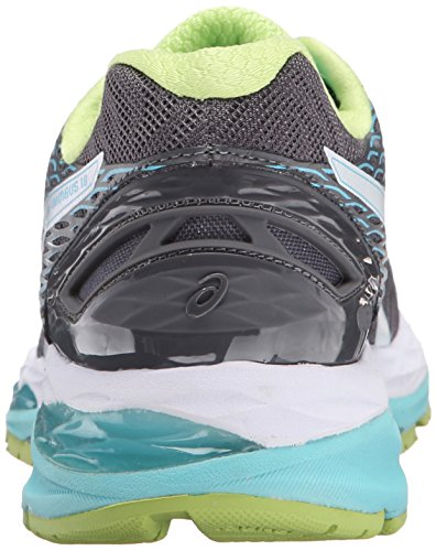 Asics Gel-Nimbus 18 étroit Synthétique Chaussure de Course Titanium-White-Turquoise