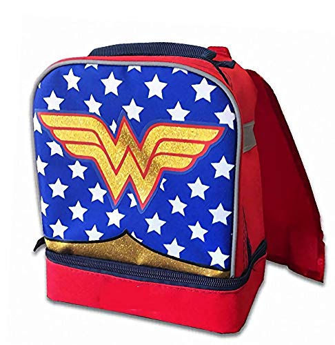 Fast Forward DC Comics Wonder Woman Classic Logo with Cape Lunch-Tasche