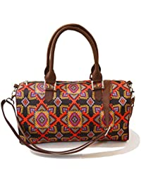 Anartline Graphic Printed Duffle Bag Durable Polysatin Body Suede Handle And Inner Lining Pocket