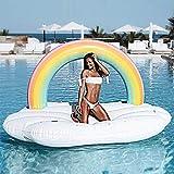 Nwlgl Riesige Outdoor Regenbogen Pool Flöße aufblasbare Spielzeug, Sommer Strand Schwimmbad...