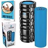Foam Roller 2 en 1 de textura cuadriculada y lisa para masajes musculares de Aero Sports Pro – Foam Roller de alta densidad para liberar tensión muscular