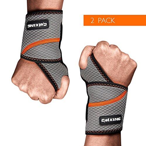 cmxing Handgelenkbandage 2 Stück verstellbare Handbandage für Tägliche Fitness und karftsport Basketball Tennis Badminton (Verstellbare 2)