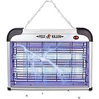 Electronic Mosquito Killer Lamp Bug Zapper Insert Pest Fly Killer with UV Blub Effective Safty for Outdoor Indoor Living Room Bedroom Kitchen Yard Garden (EU Pug,20W)