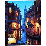 MagiDeal DIY Digital Painting By Numbers Kit Unframed Mediterranean Style On Canvas Painting For Drawing Learning - #6, As Described
