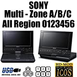 "SONY SX910 (9"" Screen) Portable Region Code Free Blu Ray Player BD Zone A/B/C - DVD Region 012345678 PAL/NTSC"