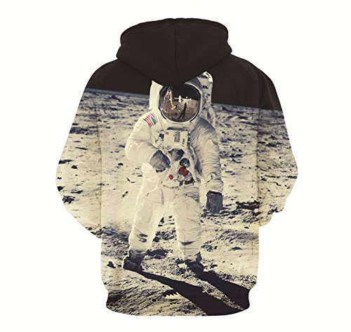 Minetom Unisexe Sweatshirts Femme Homme Impression 3D Sweats à capuche Automne Hiver Manches Longues Sweat-shirts Manteaux Astronaut