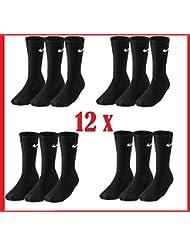 12 Paar NIKE Sportsocken Socken Größe L (42-46) schwarz Vorteilspack