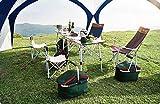 Camping Plane Sonnensegel Tarp Wasserdicht Zelt mit Innenzelt 4 Personen & Seitenschutzwand - 410 x 410 cm - für Camping Picknick (Baldachin + Innenzelt + Sonnenschutzwand) -