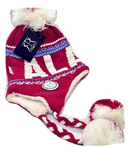 Robin Ruth Alaska Helmet Hat W/ Tassle Quality Pink White by Robin Ruth