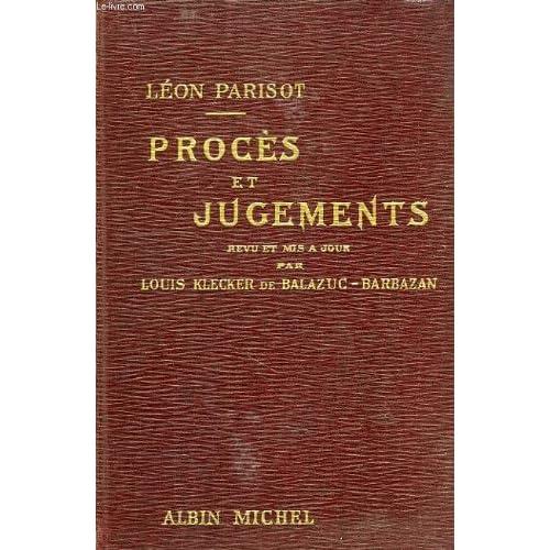 Proces et jugements, petite encyclopedie alphabetique de droit usuel, tome ii, m-z