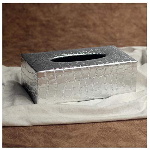 ox Tissuebox Kosmetiktücherbox Taschentuch Kleenexbox Kosmetiktuch (Silber Alligatormuster) ()