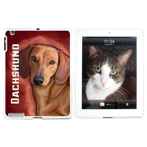 Dackel-Weiner Pet Dog-Schutzhülle zum Aufstecken für Apple iPad 2/3/4, Weiß (Dackel Weiner)