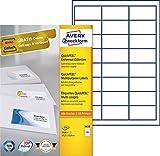 Avery Zweckform 3658 Adressetiketten (A4, Papier matt, 2,400 Etiketten, 64,6 x 33,8 mm) 100 Blatt weiß