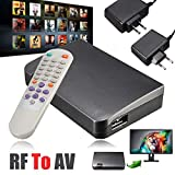 Romsion Convertitore RF a AV analogico TV Ricevitore modulatore Adattatore di Alimentazione USB con Video