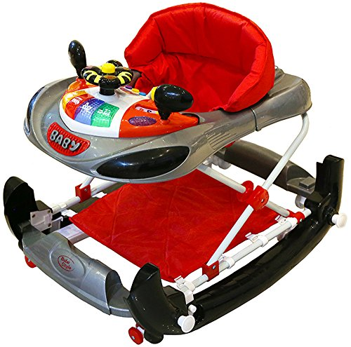 Bebe Style F1 Racing Car Walker and Rocker (Deluxe, Grey/Red)