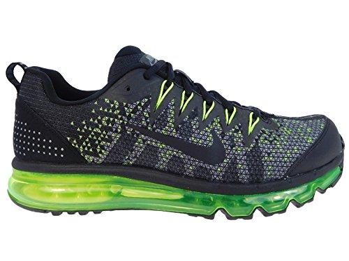 NIKE Air Max 09 Jacquard Men's Running Shoes Size US 10, Regular Width, Color Black/Grey/Volt