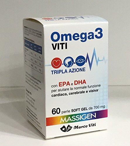 5 CONF. MASSIGEN OMEGA 3 con EPA e DHA 300 PERLE DA 700 mg MARCO VITI