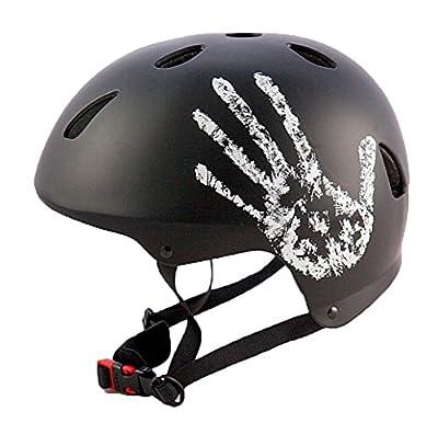 """Sport DirectTM BMX-Skate Erwachsene: """"Die Hand"""" Erwachsene: NB: 57-60 cm Cycle schwarz Fahrrad Helm CE EN1078 TÜV Zulassungen"""