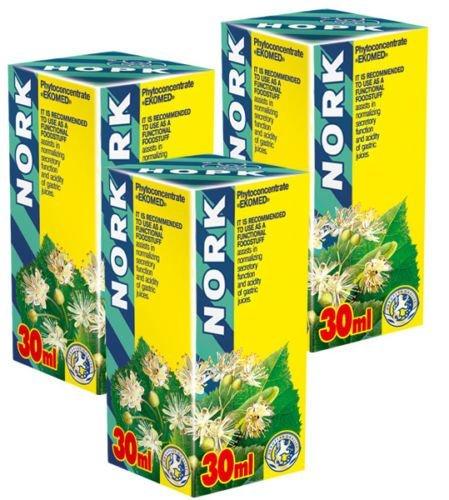 Nork Phyto Concentré - Pack de 3 -Cours de 21 jours - Extraits de plantes naturelles - santé de l'estomac efficace -Hyperacidité -Brûlures d'estomac, Ulcère de l'estomac, Gastrite
