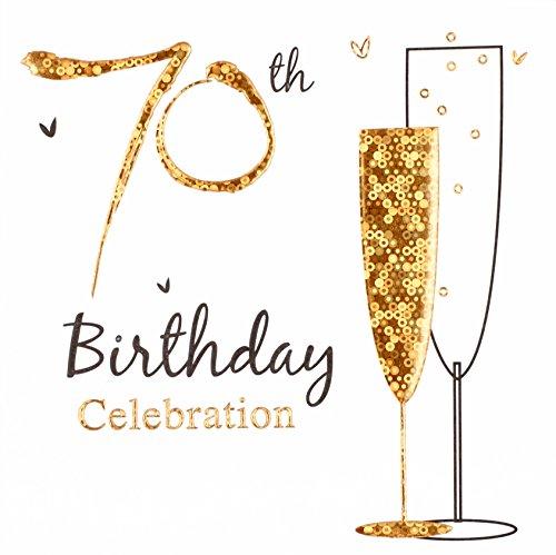 CREATIVE Einladungskarten zum 70. Geburtstag, 6 Stück