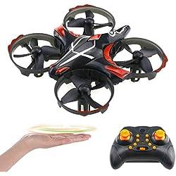 Flybiz Drone Enfant Hélicoptère Télécommandé Quadcopter, Mini Drone Enfant et Débutant, Secouer et Jeter pour Voler, Obstacle Détection Éviter, Mode sans tête, Un Jouet pour Les garçons et Les Filles