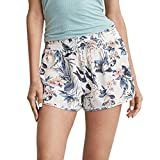 Shorts Damen Sommer Locker Luckycat Spitzen Shorts für Frauen Shorts Hose Sommerhosen Pants Hosen (A-003 Weiß, Small)