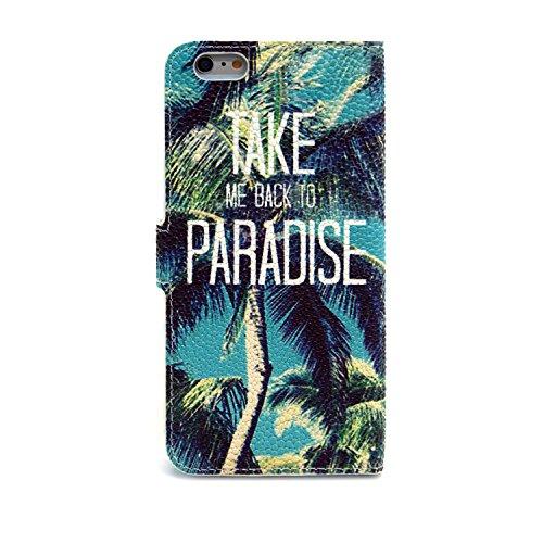 MOONCASE iPhone 6S Coque Portefeuille [Porte-cartes] Modèle Case Housse en Cuir Etui à rabat avec Béquille pour iPhone 6 / 6S (4.7 inch) -YX05 YX06