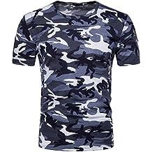 aebb45037 Amazon.es  Camiseta Camuflaje - Azul