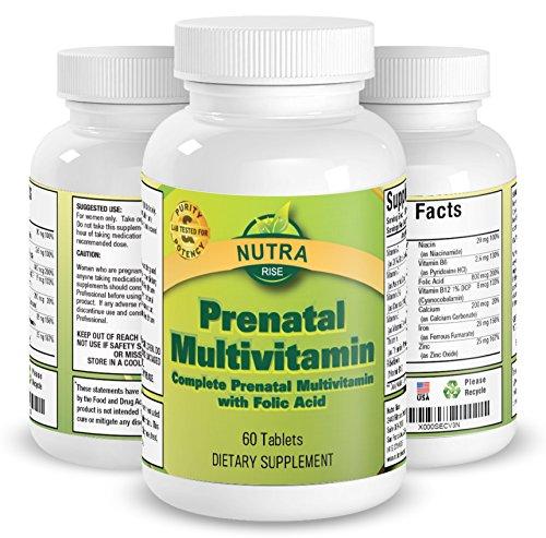 Integratore multivitaminico prenatale, per donne in gravidanza, complesso con acido